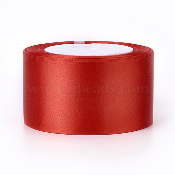 Hair Accessory Satin Ribbon Handmade Material, FireBrick, 2 inches(50mm) wide, 25yards/roll(22.86m/roll)(X-RC50MMY-026)