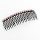 Trendy Women's Iron Hair Combs with Flower Rhinestones(OHAR-R175-04)-1