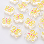 Yellow Butterfly Acrylic Beads(MACR-S374-01A-01)