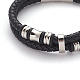 Retro Braided Leather Cord Bracelets(BJEW-L642-39)-2