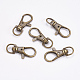 Zinc Alloy Swivel Lobster Claw Clasps(X-PALLOY-WH0011-01AB)-1