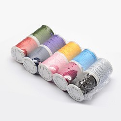 Nylon Threads, Mixed Color, 2mm, about 10yards/roll, 10rolls/bag(NWIR-O003-M)