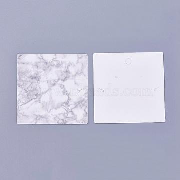 Cardboard Jewelry Display Cards, Square, WhiteSmoke, 6x6x0.05cm(CDIS-WH0010-02)