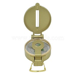 Alloy Compass Pocket Watch, with Acrylic Glass, Golden, 75~155x53x20~27mm(WACH-I0018-02)