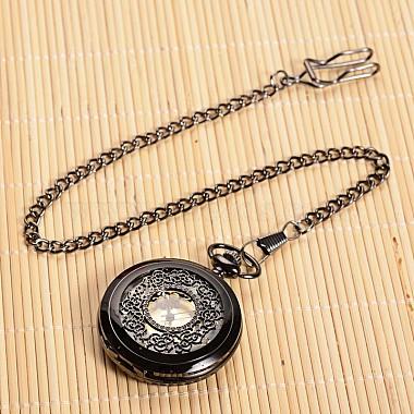 Открываться плоские круглые сплава подвеска карманные часы(X-WACH-L024-27)-1