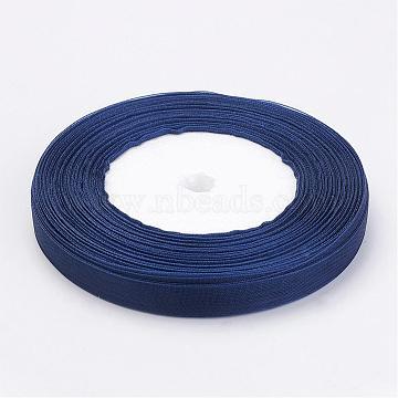 Organza Ribbon, Dark Blue, about 3/8 inch(10mm) wide, 50yards/roll(45.72m/roll)(X-RS10mmY054)