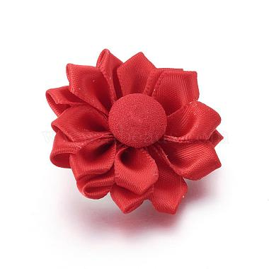 Handmade Ribbon Flower Safety Brooches(JEWB-BR00022)-2