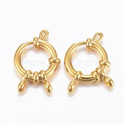 304 пружинные кольца из нержавеющей стали, золотой, 23x14x4 mm, отверстия: 2.5 mm(X-STAS-H558-29G)