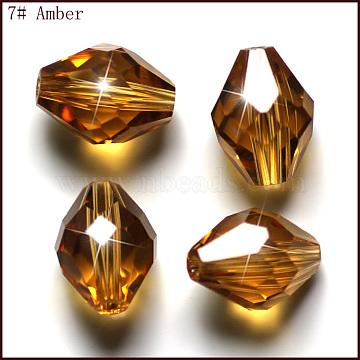 10mm Goldenrod Bicone Glass Beads