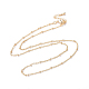 Long-Lasting Plated Brass Cable Chain Necklaces(X-NJEW-K112-09G-NF)-1