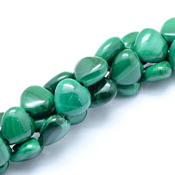 8mm Heart Malachite Beads