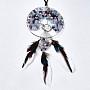 Platinum Feather Mixed Stone Big Pendants(G-T133-15B)