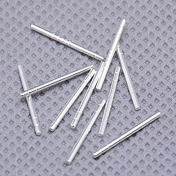 Sterling Silver Ear Stud Pin, Sterling Silver, 13mm, Pin: 0.9mm(X-STER-A003-134)