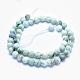 Natural Larimar Beads Strands(G-K256-56-8mm)-2