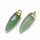 Natural Green Aventurine Pointed Pendants(X-G-Q495-10G)-2