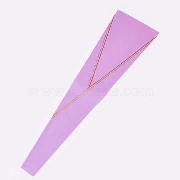 Sac d'emballage de rose, violette, 45x4~13 cm(ABAG-WH0011-03)