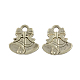 Antique Silver Alloy Christmas Bell Pendants(X-TIBEP-GC158-AS-RS)-1