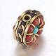 Handmade Indonesia Beads(IPDL-F022-81B)-2