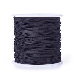 Fil de nylon tressé, noir, 0.8 mm; environ 100 mètres / rouleau (300 pieds / rouleau)(NWIR-R006-0.8mm-900)