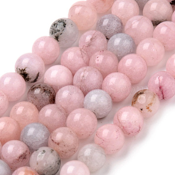 Natural Cherry Blossom Jasper Beads Strands, Dyed, Round, Pink, 10~10.5mm, Hole: 1.2mm; about 36pcs/strand, 15.5 inches(X-G-Q462-63-10mm)