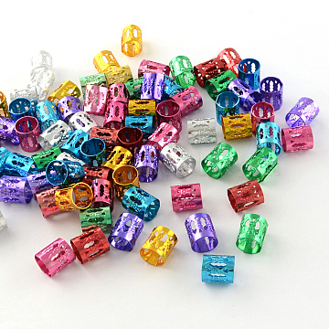9mm Mixed Color Column Aluminum Beads