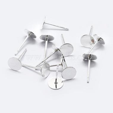 925 Sterling Silver Stud Earring Findings(X-STER-K167-045E-S)-2