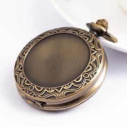 plats ronds têtes de montre en alliage, bronze antique, 59x46.5 mm, trou: 16x5 mm; adapter pour 33 mm de diamètre photo(X-WACH-D016-02)