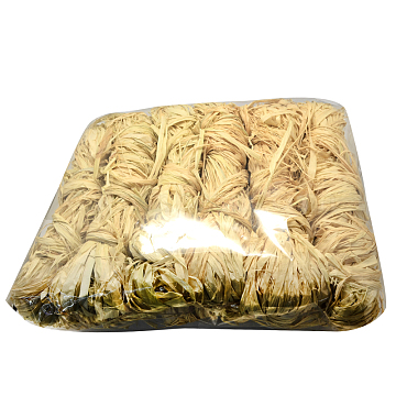 Natural Raffia Ribbon, Raffia Paper Rope Cord for DIY Projects, Light Khaki, 2~5mm; 50g/bundle; 12bundles/bag(DIY-S003-14)