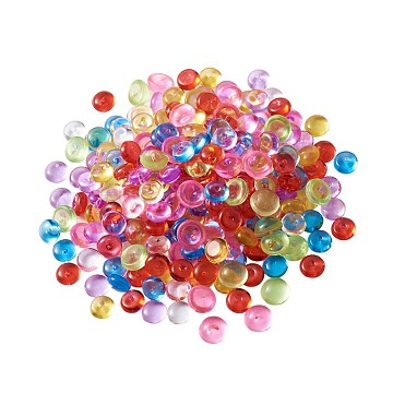 Plastic Beads, No Hole/Undrilled, Half Round, For Aquarium Fish Tank Decoration, Mixed Color, 7mm(KY-MSMC001-04)