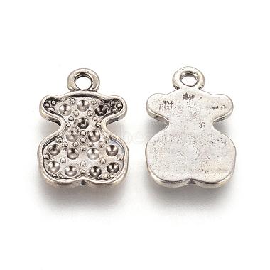 Antique Silver Bear Alloy Pendants