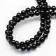 Natural Obsidian Round Beads Strands(X-G-S156-8mm)-2