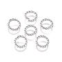 304 Stainless Steel Twisted Jump Rings, Open Jump Rings, Round Ring, Stainless Steel Color, 18 Gauge, 7x1mm, Inner Diameter: 5mm