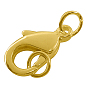 Golden Others Brass Lobster Claw Clasps(X-EC905-NFLFG)