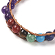 Natural Amethyst Cord Beaded Bracelets(BJEW-E351-02E)-4