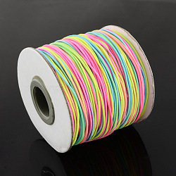 Round Elastic Cord, with Nylon Outside and Rubber Inside, Colorful, 0.8mm, about 109.36 yards(100m)/roll(EC-R001-0.8mm-MA)