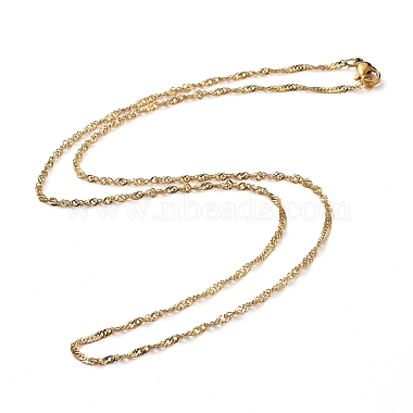 304 Stainless Steel Singapore Chains Necklaces(X-NJEW-JN02662-03)-1