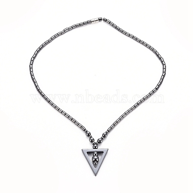 Non-magnetic Synthetic Hematite Necklaces(NJEW-G331-04)-3