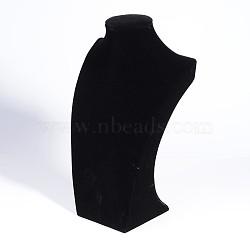 Collier de velours buste affiche, noir, 34x21x12 cm(NDIS-O003-01B)