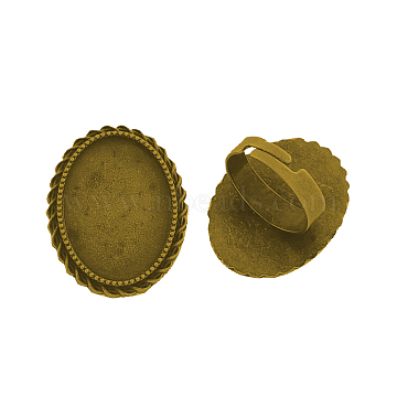 Antique Golden Iron Ring Components