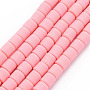 Pink Column Polymer Clay Beads(CLAY-T001-C39)