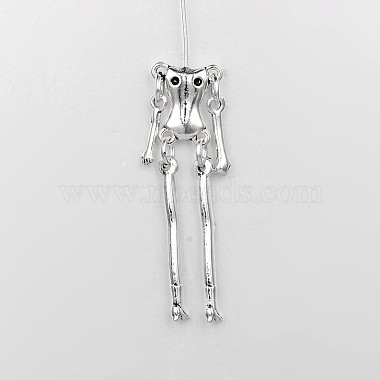 Tibetan Style Alloy Human Body Skeleton For DIY Toy Doll Making(X-TIBE-39548-AS-NR)-2