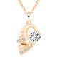 Exquisite Conch Shape Brass Cubic Zirconia Pendant Necklaces(NJEW-EE0001-17G)-1