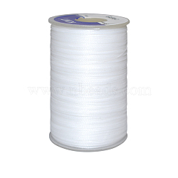 Waxed Polyester Cord, White, 0.45mm; about 54m/roll(YC-E006-0.45mm-A01)