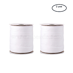PandaHall Elite Paper Cords for DIY Jewelry Making, Paper Twine, White, 6mm, about 99.51 yards(91m)/roll(OCOR-PH0003-17)