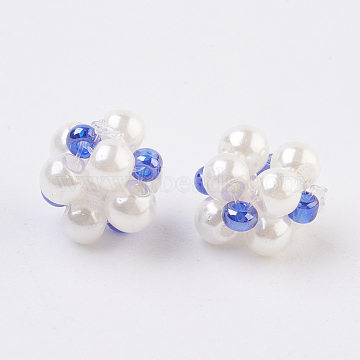 8mm Blue Others Glass Beads