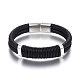 Leather Braided Cord Bracelets(BJEW-E352-06P)-1