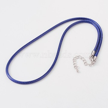 3mm DarkBlue Leather Necklace Making