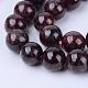 Natural Garnet Beads Strands(X-G-Q462-6mm-23)-1