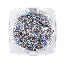 Paillettes brillantes au laser, paillettes de manucure, paillettes scintillantes diy, rectangle, colorées(MRMJ-T010-166B)
