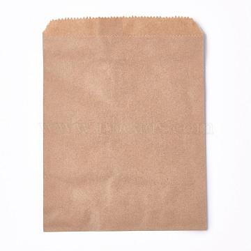 Kraft Paper Bags, No Handles, Food Storage Bags, BurlyWood, None Pattern, 18x13cm(CARB-P001-D02-04)